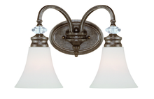 Craftmade 26702-MBS - Boulevard 2 Light Vanity in Mocha Bronze/Silver Accents