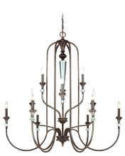 Craftmade 26712-MBS - Boulevard 12 Light Chandelier in Mocha Bronze/Silver Accents