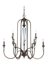 Craftmade 26729-MBS - Boulevard 9 Light Chandelier in Mocha Bronze/Silver Accents