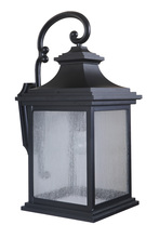 Craftmade Z3224-MN - 1 Light Midnight Outdoor Large Wall Mount