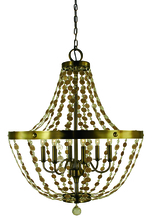Framburg 4486 BN - 6-Light Brushed Nickel Naomi Chandelier