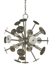Framburg 4976 PN/SP - 12-Light Polished Nickel/Satin Pewter Apogee Chandelier