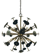 Framburg 4978 PN/SP - 20-Light Polished Nickel/Satin Pewter Apogee Chandelier