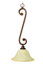 Jeremiah 9112PR1 - Toscana 1 Light Pendant in Peruvian Bronze