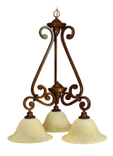 Jeremiah 9124PR3 - Toscana 3 Light Down Chandelier in Peruvian Bronze