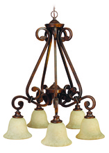 Jeremiah 9127PR5 - Toscana 5 Light Down Chandelier in Peruvian Bronze