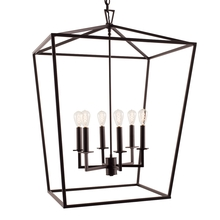 Norwell 1082-BR-NG - Large Cage Pendant