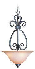 Craftmade 22023-FM - Sheridan 3 Light Inverted Pendant in Forged Metal