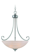 Craftmade 25323-SN - Raleigh 3 Light Inverted Pendant in Satin Nickel