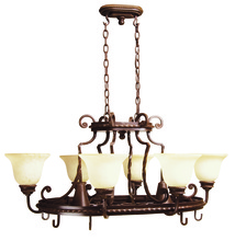 Craftmade 8138AG8 - Riata 8 Light Pot Rack in Aged Bronze Textured