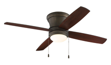 "Craftmade LAVH52ESP4 - Laval 52"" Hugger Ceiling Fan with Blades and Light in Espresso"