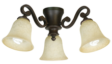 Craftmade LK35-AG-LED - 3 Light Universal Fan Light Kit in Aged Bronze Textured with Antique Scavo Glass