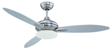 "Craftmade LO52BNK3 - Loris 52"" Ceiling Fan with Blades and Light in Stainless Steel"