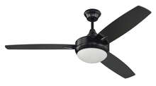 "Craftmade TG52GBK3 - Targas 52"" Ceiling Fan with Blades and LED Light Kit in Gloss Black"