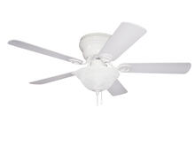 "Craftmade WC42WW5C1 - Wyman with Bowl Light Kit 42"" Ceiling Fan with Blades and Light in White"