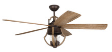 "Craftmade WIN56ABZWP5 - Winton 56"" Ceiling Fan with Blades and Light in Aged Bronze Brushed/Weathered Pine"