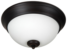 "Craftmade XP11ABZ-2W - Pro Builder 2 Light 11"" Flushmount in Aged Bronze Brushed"