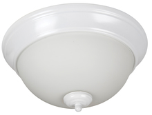"Craftmade XP11W-2W - Pro Builder 2 Light 11"" Flushmount in White"