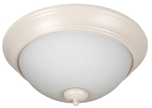 "Craftmade XP15AW-3W - Pro Builder 3 Light 15"" Flushmount in Antique White"