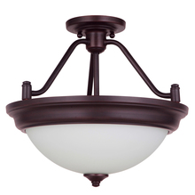 Craftmade XPS15ABZ-2W - Pro Builder 2 Light Convertible Semi Flush in Aged Bronze Brushed