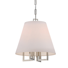Crystorama 2254-PN - 4 Light Polished Nickel Eclectic Modern Mini Chandelier