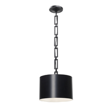 Crystorama 8683-MK-WH - 1 Light Matte Black Eclectic Industrial Modern Mini Chandelier