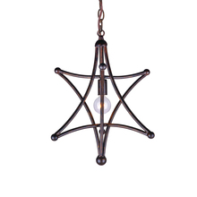 Crystorama 9235-EB - 1 Light English Bronze Rustic Chic Mini Chandelier