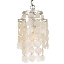 Crystorama BRI-3000-SA - 1 Light Antique Silver Eclectic Mini Chandelier