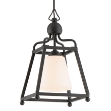Crystorama SYL-2280-OP-BF - The Sylvan Collection by Libby Langdon 1-Light Black Forged Outdoor Pendant