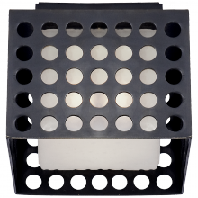 Visual Comfort KW 4060BZ-CDG - Precision Small Square Flush Mount in Bronze wit