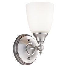 Sea Gull 44615-965 - One Light Nickel Bathroom Sconce