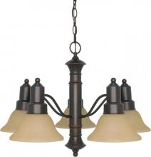 "Nuvo 60-3103 - Gotham ES - 5 Light  25"" Chandelier w/ Champagne Glass - 13w GU24 Lamps Incl"