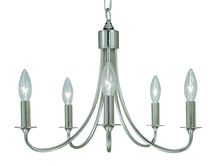 Framburg 1004 PS - 5-Light Polished Silver Maisonette Mini Chandelier