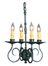 Framburg 1314 CH - 4-Light Charcoal Black Forest Mini Chandelier