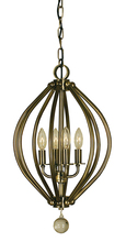 Framburg 4344 BN - 4-Light Brushed Nickel Chandelier