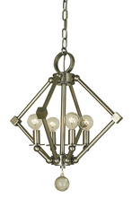 Framburg 4384 PN - 4-Light Polished Nickel Diamond Chandelier