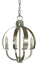 Framburg 4724 MB - 4-Light Mahogany Bronze Luna Chandelier