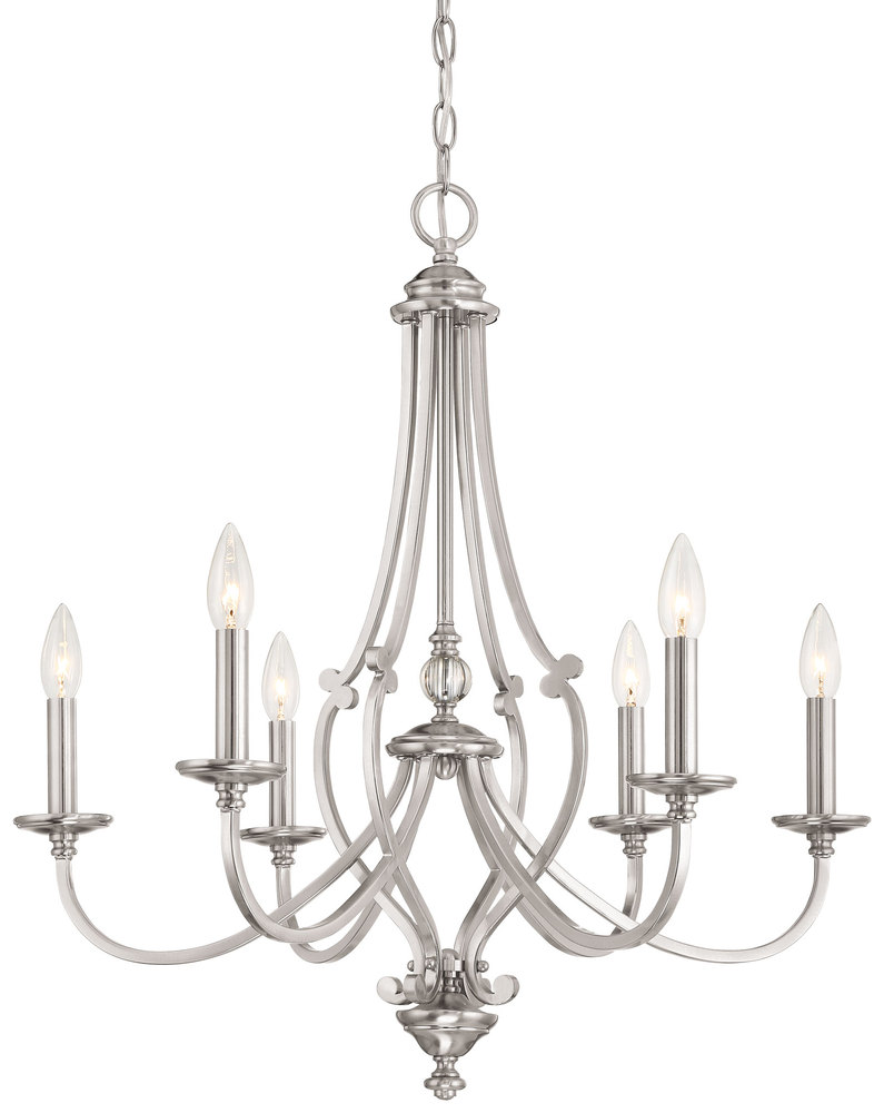 Lighting Etc. in North Richland Hills, Texas, United States, Minka-Lavery 3336-84, 6 Light Chandelier, Savannah Row