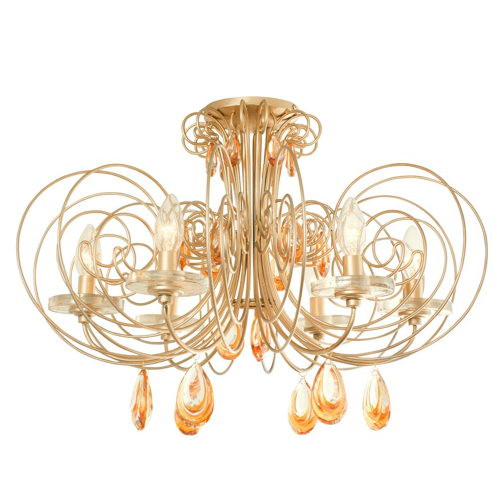 Lighting Etc. in North Richland Hills, Texas, United States, Varaluz 238S06GD, Elysse 6-Lt Crystal Ceiling Light, Elysse