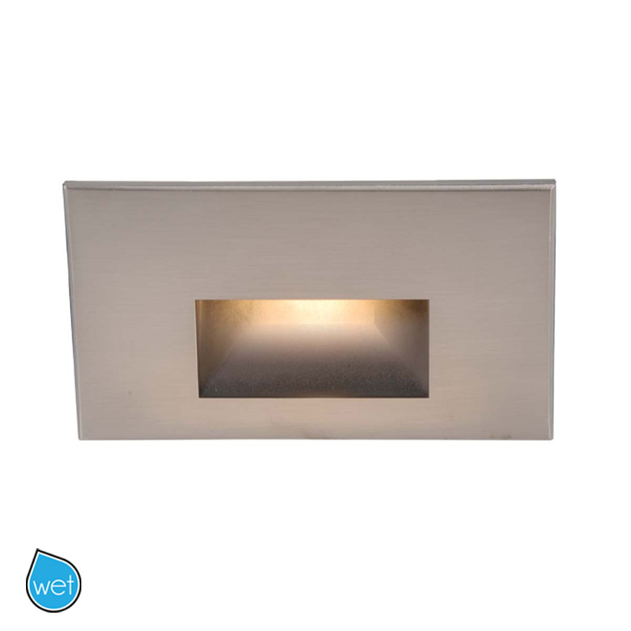 Lighting Etc. in North Richland Hills, Texas, United States, WAC US WL-LED100-C-BN, LED STEP LIGHT - RECTANGULAR SCOOP,