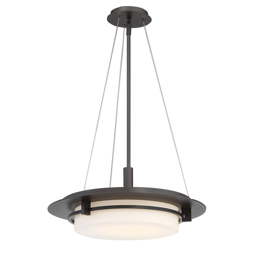 Lighting Etc. in North Richland Hills, Texas, United States, WAC US PD-W33620-BZ, COMPASS 20IN OUTDOOR PENDANT 3000K, Compass