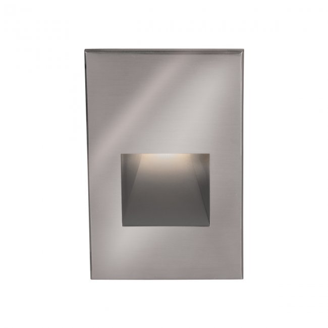 Lighting Etc. in North Richland Hills, Texas, United States, WAC US 4021-30SS, LANDSCAPE STEP 12V VERT RECT-STAINLESS,