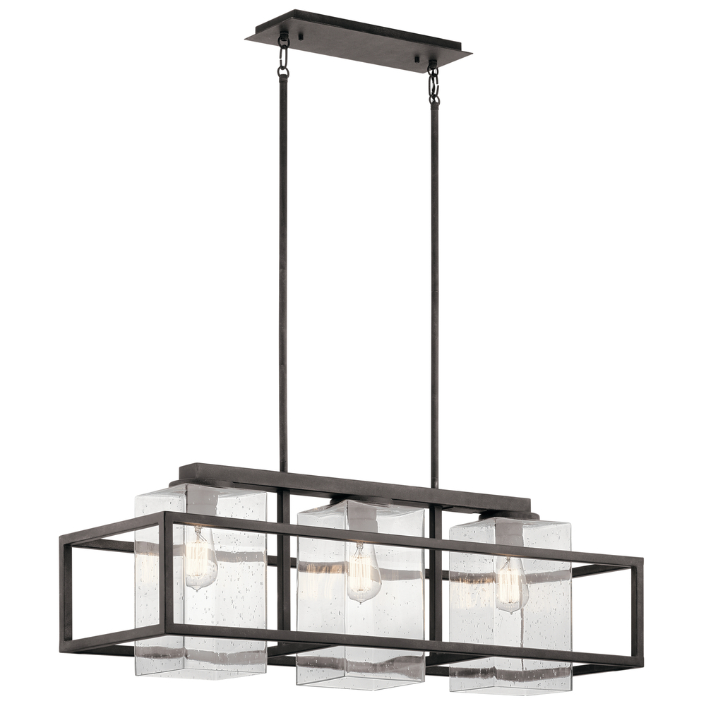 Lighting Etc. in North Richland Hills, Texas, United States, Kichler 49805WZC, Outdoor Linear Chandelier 3Lt, Wright