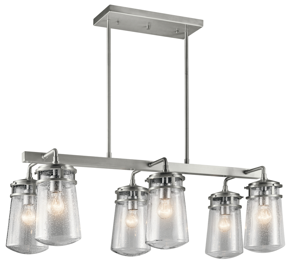 Lighting Etc. in North Richland Hills, Texas, United States, Kichler 49835BA, Outdoor Linear Chandelier 6Lt, Lyndon