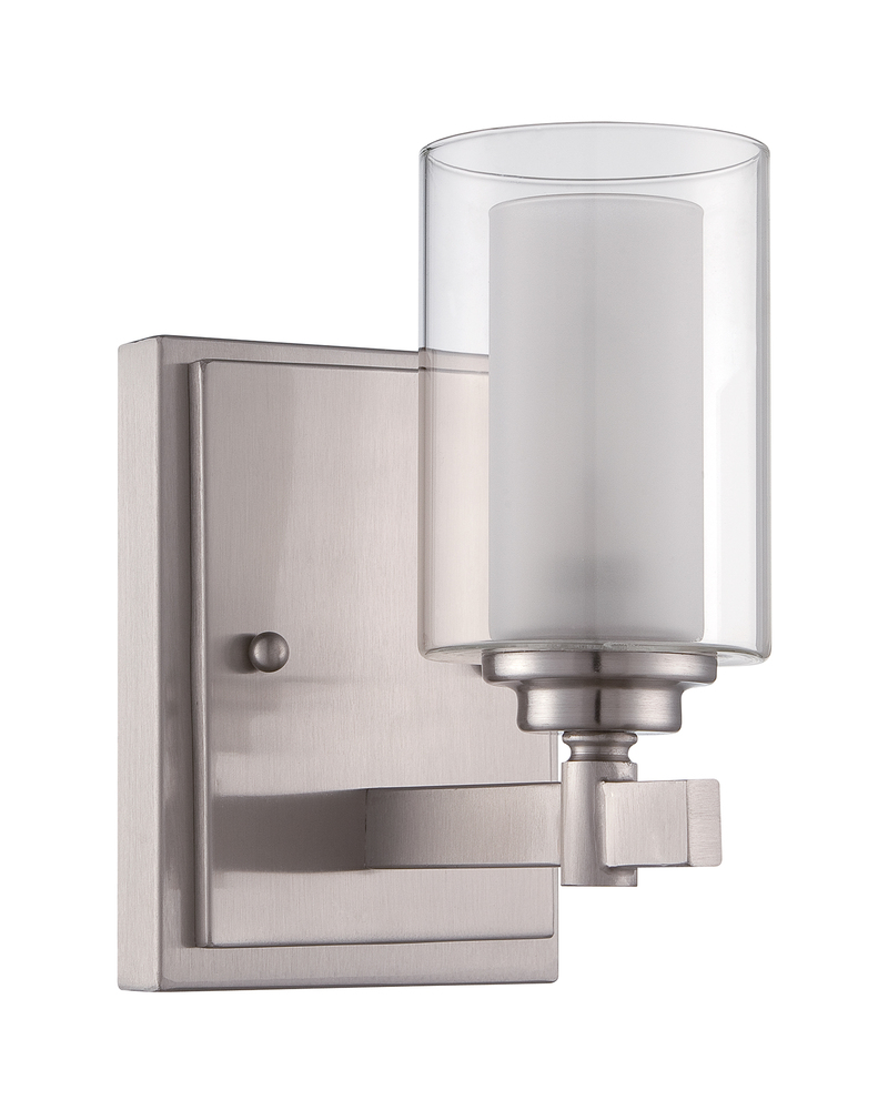 Lighting Etc. in North Richland Hills, Texas, United States, Craftmade 16705BNK1, Celeste 1 Light Wall Sconce in Brushed Polished Nickel, Celeste