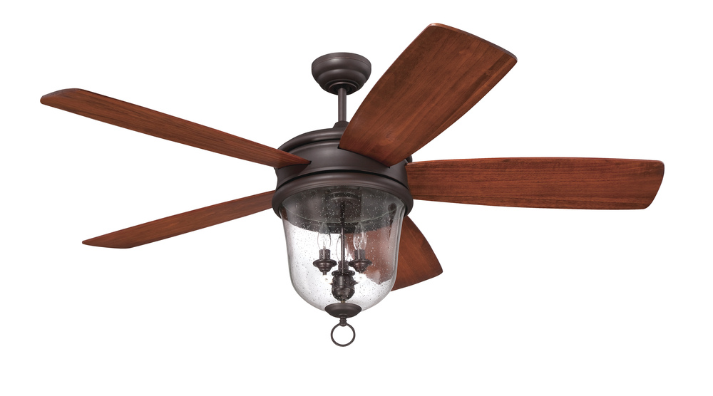 "Lighting Etc. in North Richland Hills, Texas, United States, Craftmade FB60OBG5, Fredericksburg 60"" Ceiling Fan with Blades and Light in Oiled Bronze Gilded, Fredericksburg"