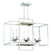 Craftmade 41526-CH - Cubic 6 Light Linear Chandelier in Chrome