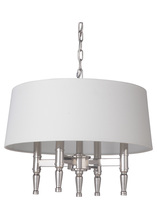 Craftmade 44694-PLN - Ella 4 Light Pendant in Polished Nickel