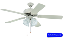 "Craftmade C203AW - Pro Builder 203 52"" Ceiling Fan with Light in Antique White (Blades Sold Separately)"
