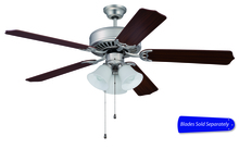 "Craftmade C205BN - Pro Builder 205 52"" Ceiling Fan with Light in Brushed Satin Nickel (Blades Sold Separately)"